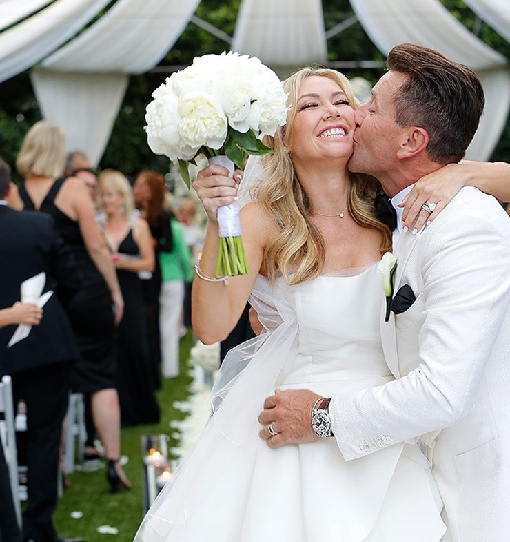 Dancing with the stars wedding kym johnson and robert for Shark tank wedding dress